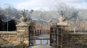 Getting ready to enter the clouds through the Fountain Terrace