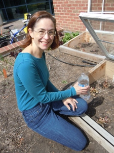 Kristin has made sure the cold frames are open in the warmer temperatures.