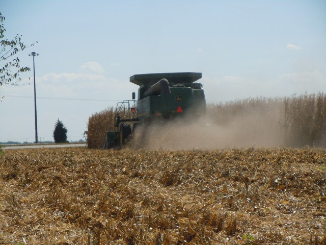 They create a lot of dust.  Note the spout on the left.  It empties the corn into transport.