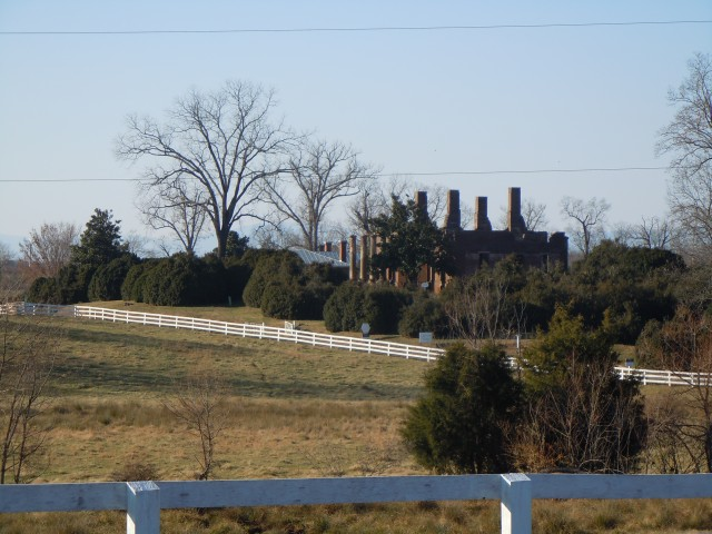 Barboursville ruins in Orange County Virginia, on a cold late fall day.