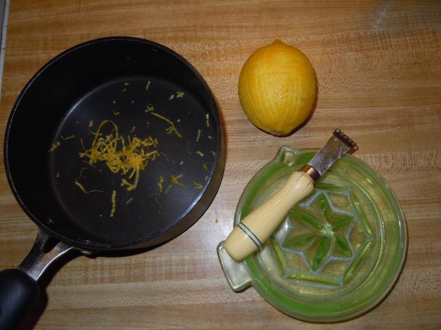 Start by zesting  your lemon.