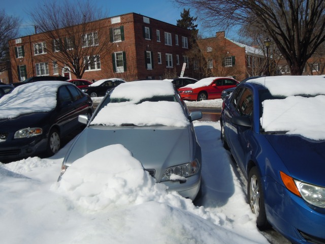 My car after one of the recent snow storms.