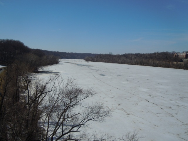 This is a view west, toward Great Falls.