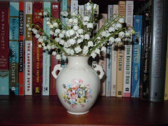 I came back from lunch and cut some lilies of the valley for the house.