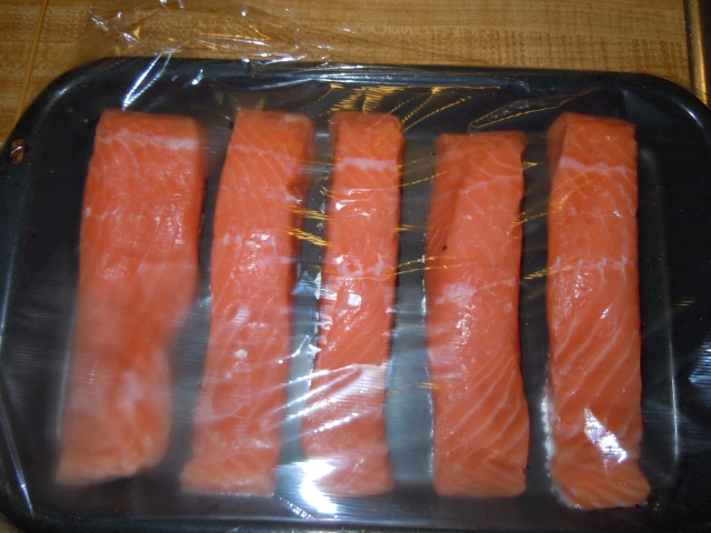 I got the salmon ready.