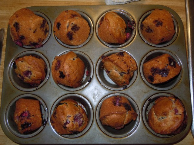 This morning I made these muffins with fresh berries. they turned out crunchy on the outside and almost pudding-like on the inside, just the way I like...