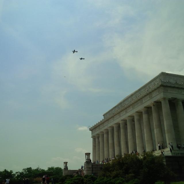 Vought F4U Corsairs representing the battle of Iwo Jima.
