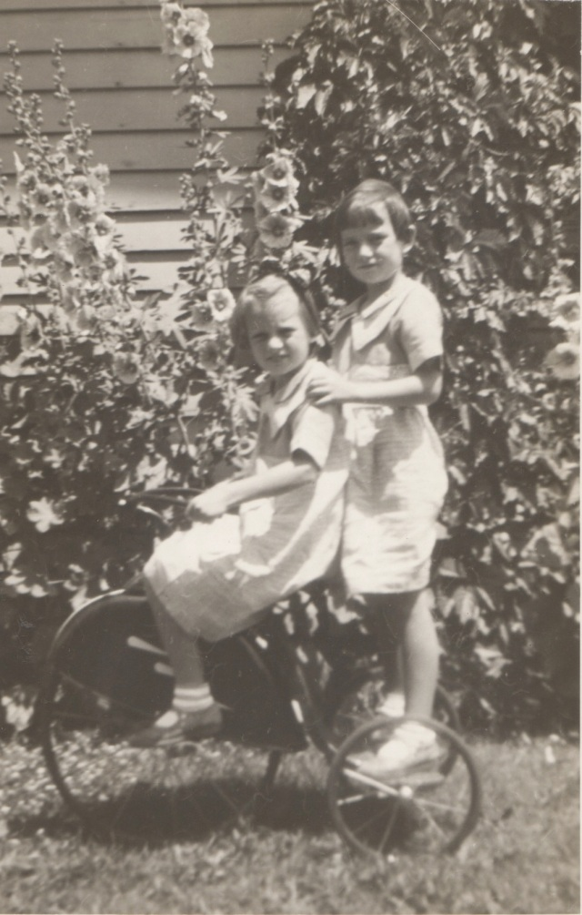 Aunt Gene (left) and my mother (right) July 6, 1936.