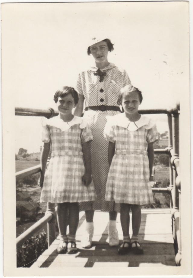 My mother, Aunt Mabel, and Aunt Gene July 4, 1936 on an overlook at Lake Winnebago.