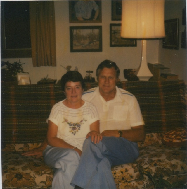 Aunt Gene and Uncle Vic, in 1982 at my parent's.