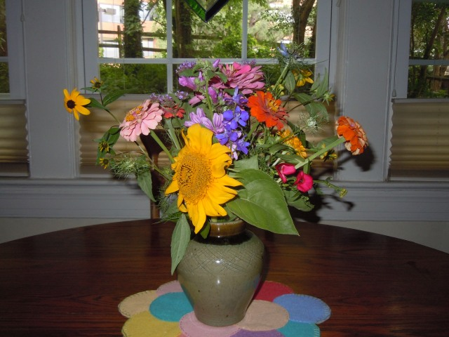 It's so nice to have flowers in the house.
