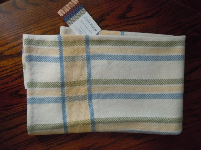 And this is a towel she wove, that I now have in my kitchen.