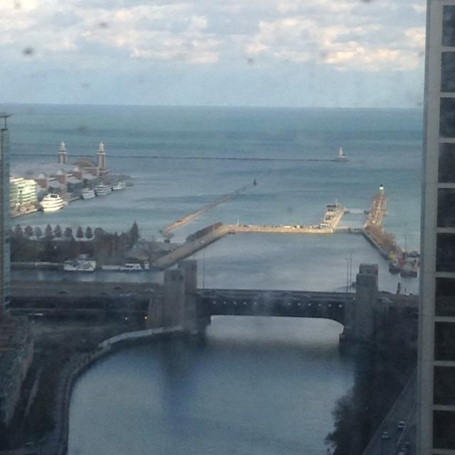 Navy Pier upper left.
