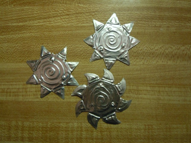 And I made more votive stars and a sun!